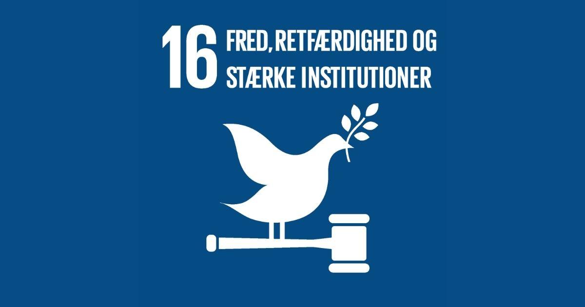 Mål 16: Fred, retfærdighed og stærke institutioner | Verdensmålene - for bæredygtig udvikling